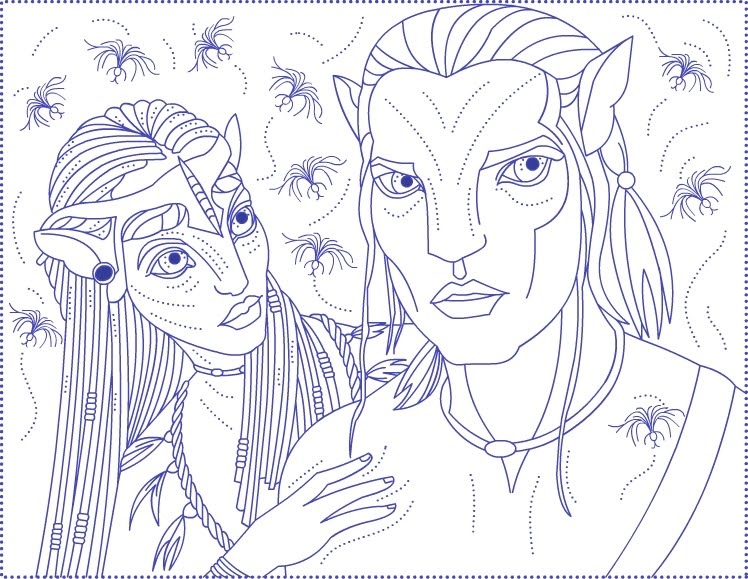 Avatar Colouring Pages Avatar Coloring Pages