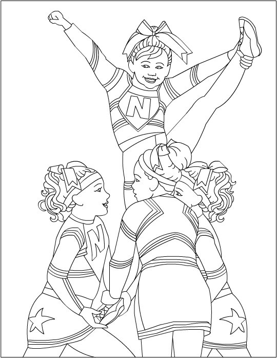 cheerleading coloring pages for grils - photo#3