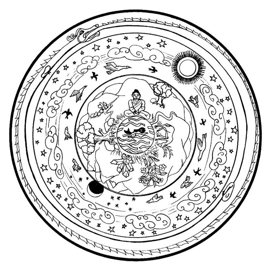 Coloring pages of mandala de paste