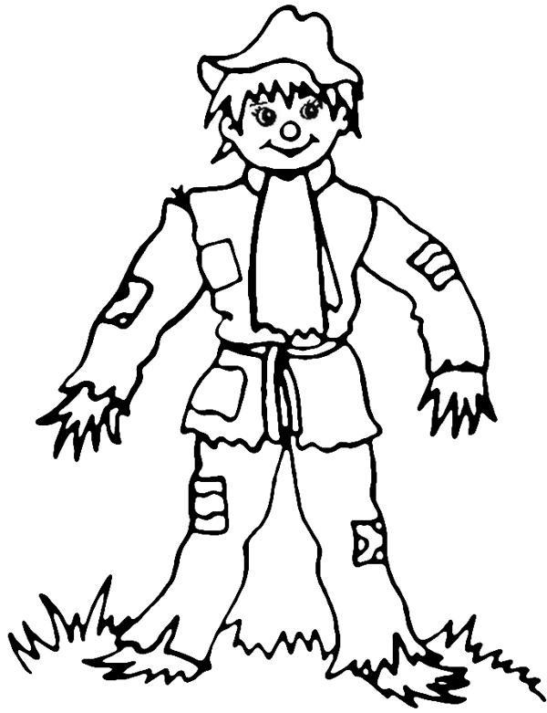 s is for scarecrow coloring pages - photo #19